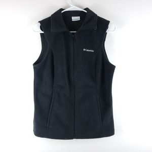 Columbia Black Fleece Vest Size Small